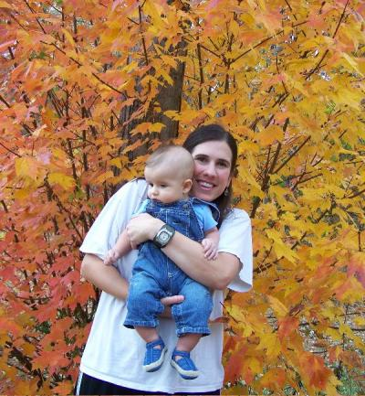 Mommy & Houston enjoying the beautiful fall foliage!