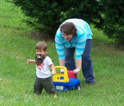 Running wild with Auntie Merdy in September 2008.